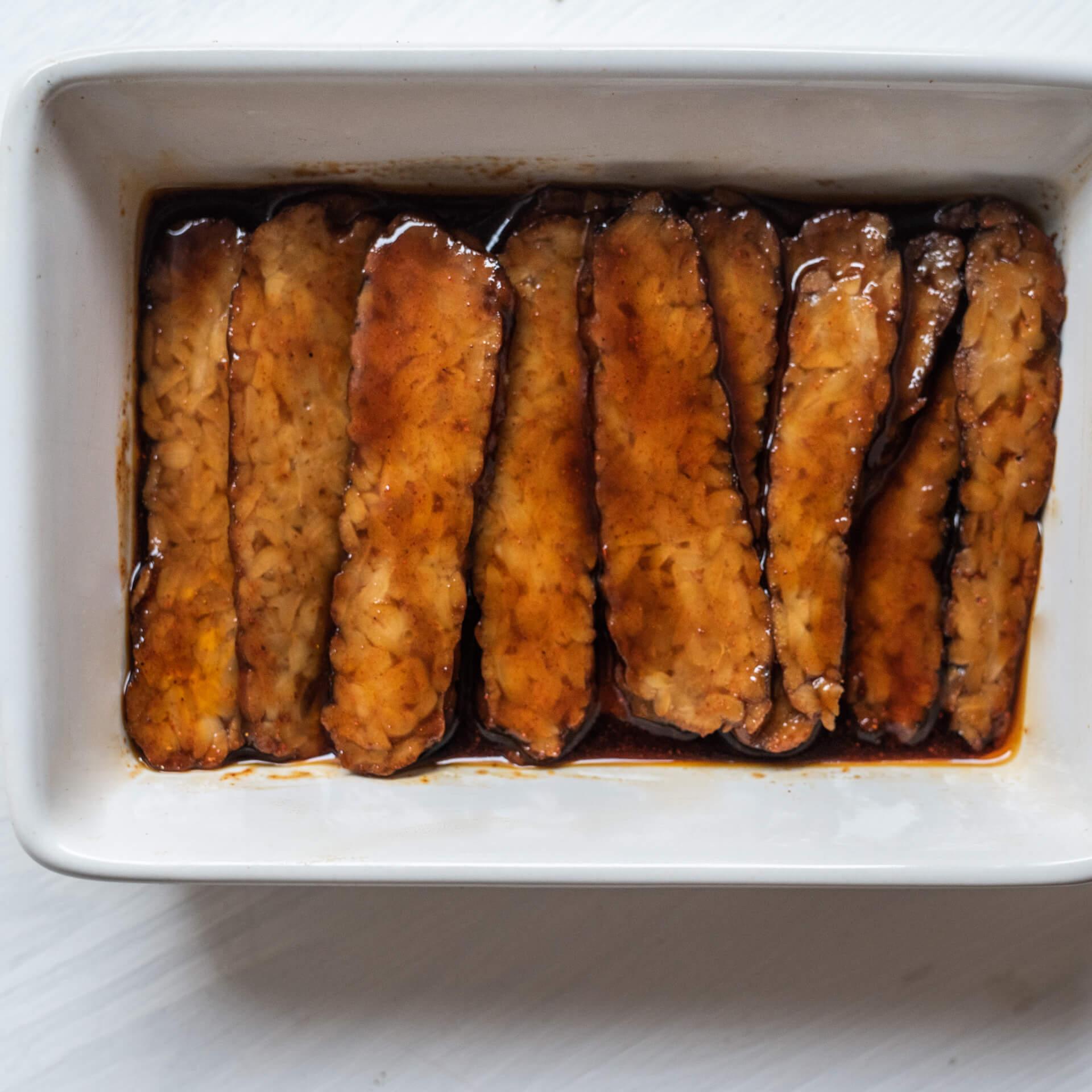 Bio omeleta stempehovou slaninou