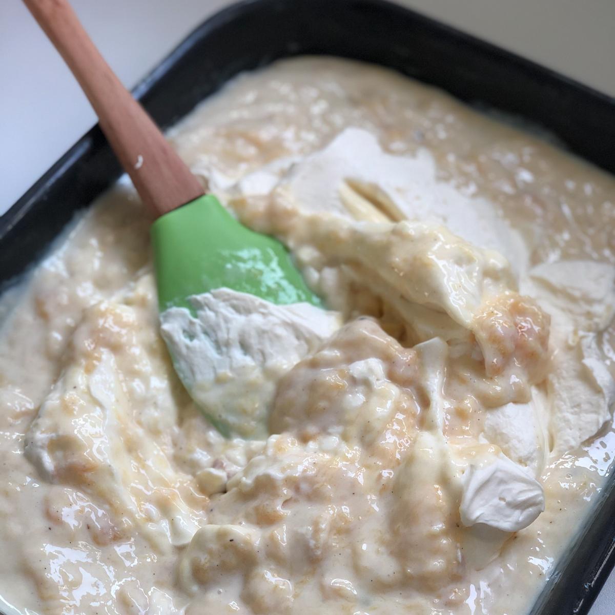 Broskvová zmrzlina smascarpone avanilkou